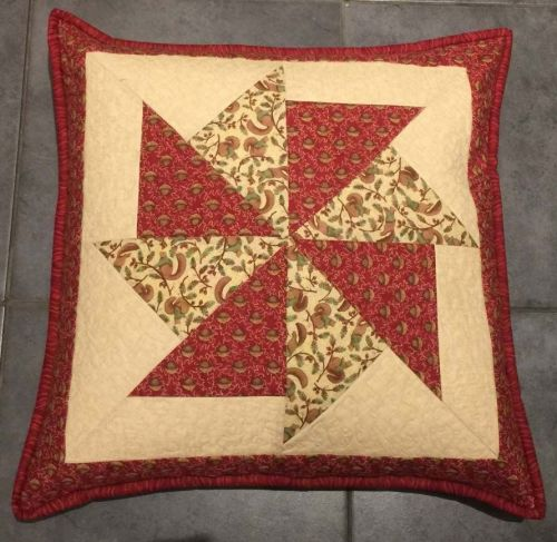 Squirrel and Acorn Pieced Cushion Pattern by Juberry Designs