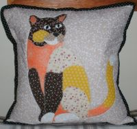 Purrdi the Cat by Juberry Fabrics