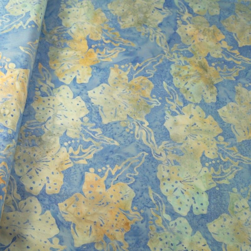 BK145 Col H Batik Palm Leaf Print