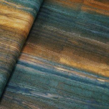BK148 Col E Bali Batik Two Tone Blue