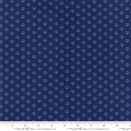 42305-14 Regency Blues Floral Dark Blue