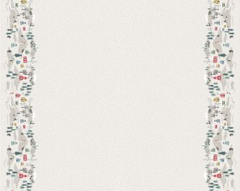 C41.1 - Snow day double border cream half metre