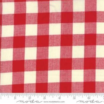 12134-11 Picnic Basket Check Red