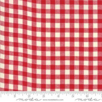 12134-12 Picnic Basket Check Red