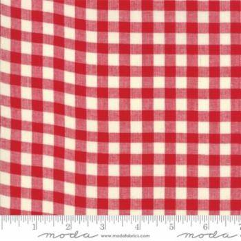 12134-12 Picnic Basket Check Red