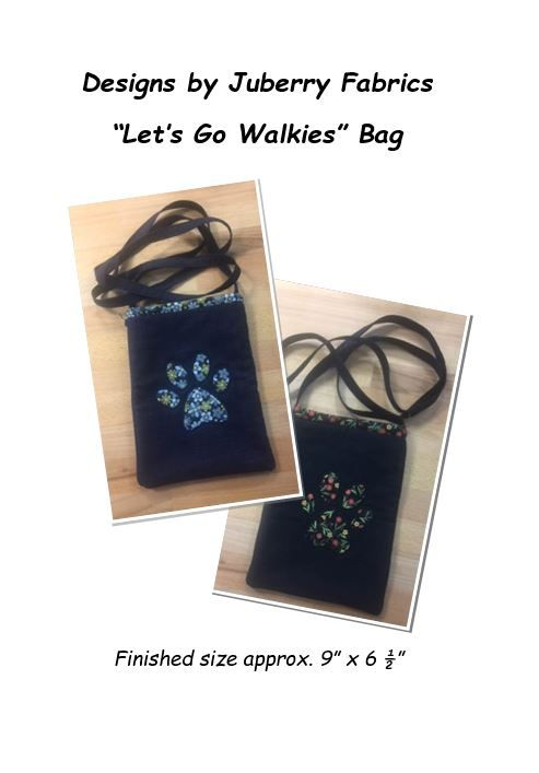 Juberry Fabrics Lets Go Walkies Bag - Pattern