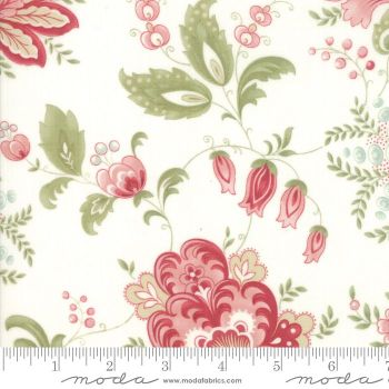 44190 11 Porcelain Floral Natural
