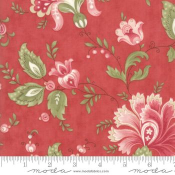 44190 16 Porcelain Rose Red