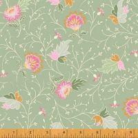 50932-2 Blythe Floral Sage Green and Pink