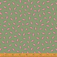 50934-8 Blythe Leaves Sage Green and Pink