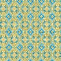 AHYM-18626-63 Sky Blue Geometric Pattern