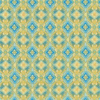 AHYM-18626-63 Sky Blue Geometric Pattern