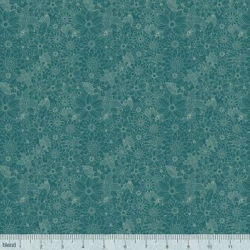 129.101.04.1 Floral Pets - Sigrid Turquoise
