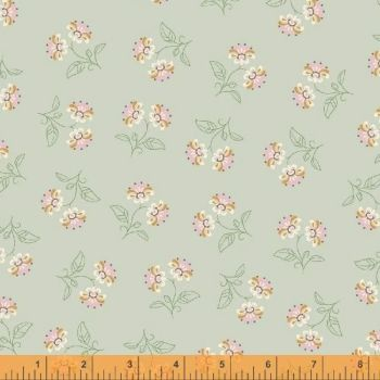 50933-2 Blythe Floral Light Green and Pink