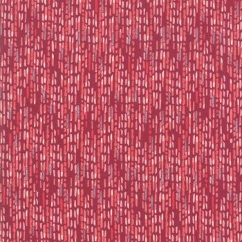 48664-19 Painted Meadow  Burgundy Dash Cotton