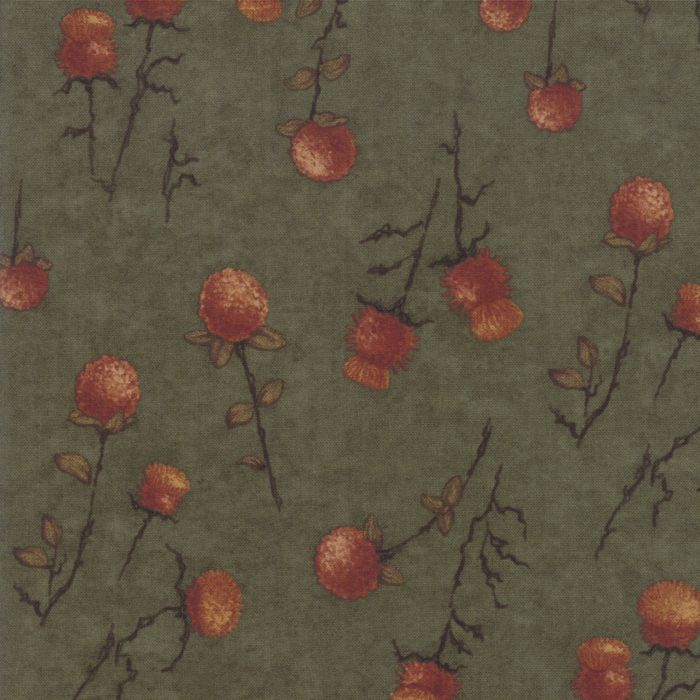 6792-15 Country Charm Thistle Clover Dark Green