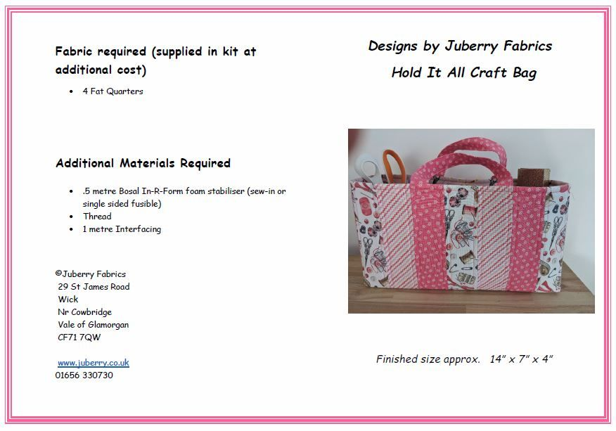 Craft bag part 2