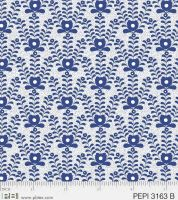 PEPI3163B Blue Flowers on White