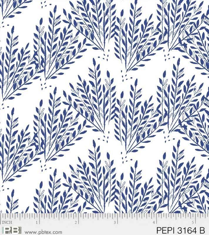 PEPI3164B Blue Grass on White