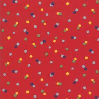 21775-13 Good Times Multi Coloured Squares on Red