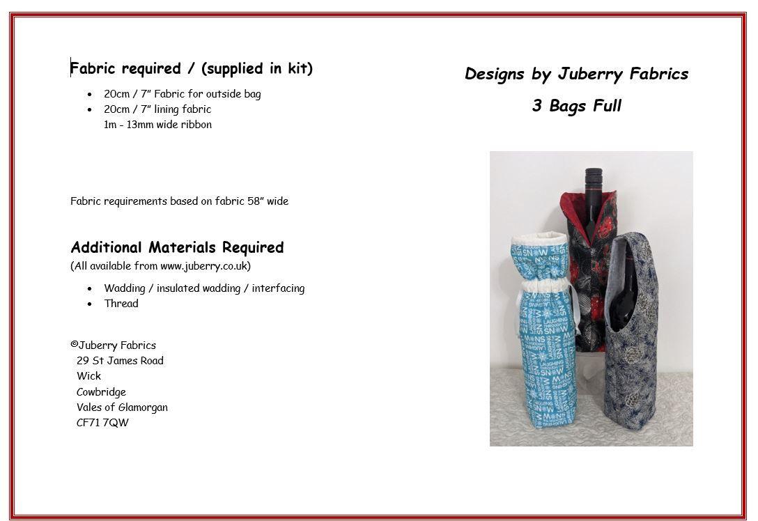 3 Bags Full Bottle Bag Pattern