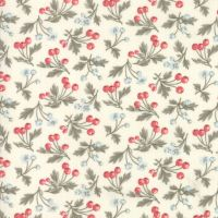 44244 11  Daybreak Dawn Rose Hips and Flowers on Cream
