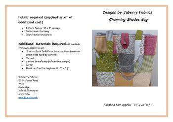 Charming Shades Bag Pattern