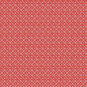 1382R-Sakura - Geometric in Red