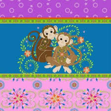 26031 Mystic Forest Monkey Stripe