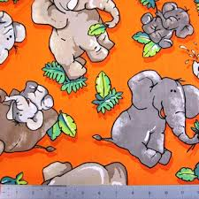Elephants on orange background 112-2789