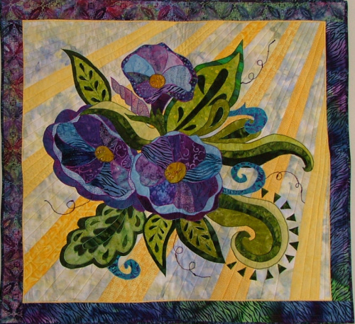 Good Morning Glory by BJ designs Machine Applique Intermediate Level