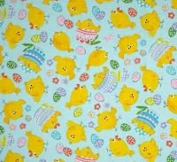 Kanvas Spring Fling, Spring chicks in sky blue 4961 05