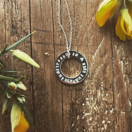 'Cornwall My Home' Washer Necklace