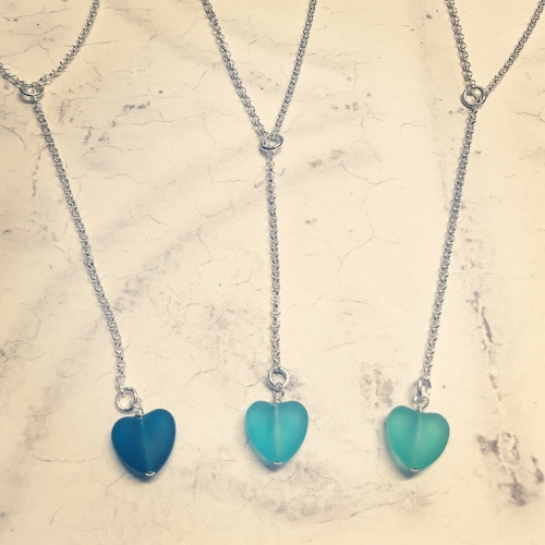 Y Lariat Necklace with a heart bead