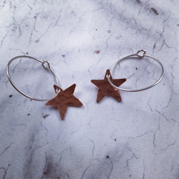 Copper Star Earrings