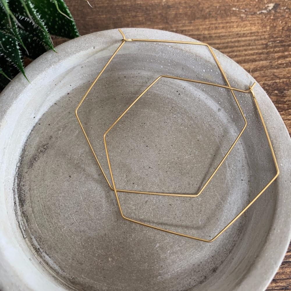 Brass Shape Hoops