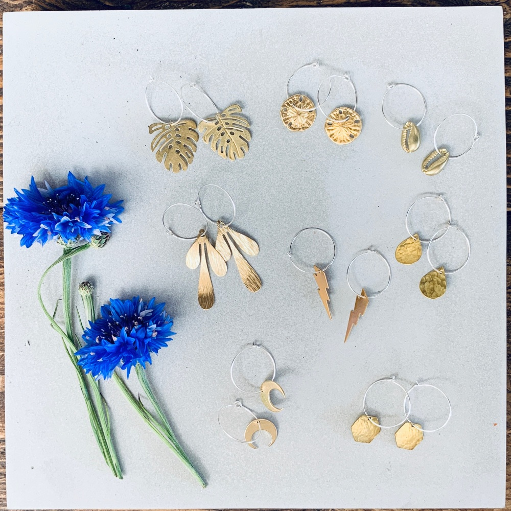 Medium Brass Earrings