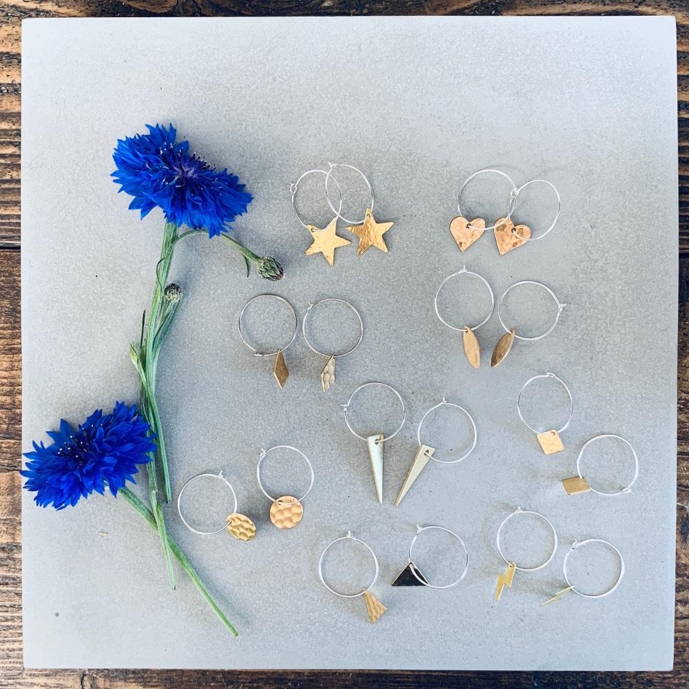 Small Brass Earrings