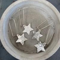 Star Earrings on a Kidney Hook
