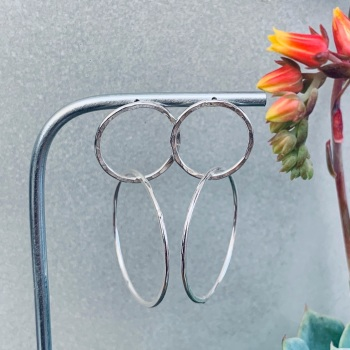 Small Hoop Medium Hoop Earrings