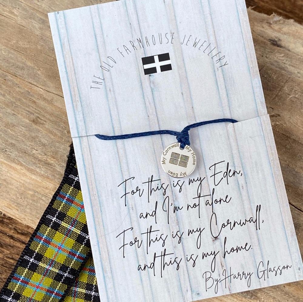 'Cornwall My Home' Wish Bracelet