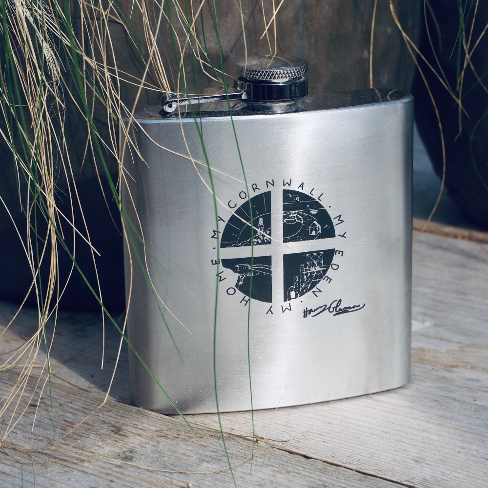Cornwall My Home - Hip flask