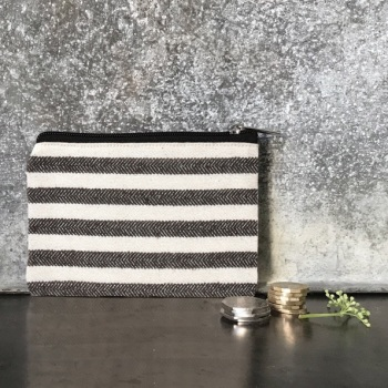 Wide Striped Purse