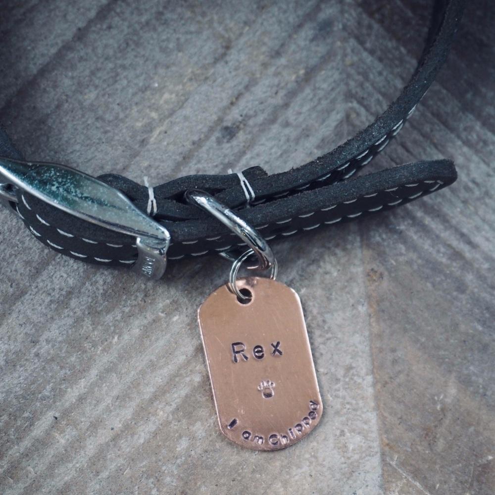 Copper Dog Tag