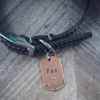 Rectangle Copper Dog Tag
