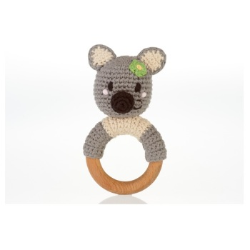 Koala Wooden Teether Rattle