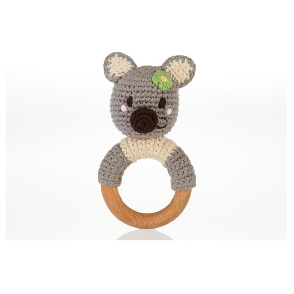 Koala Wooden Teether Rattle