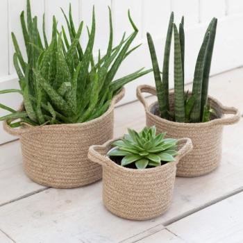 Woven Jute Plant Pots