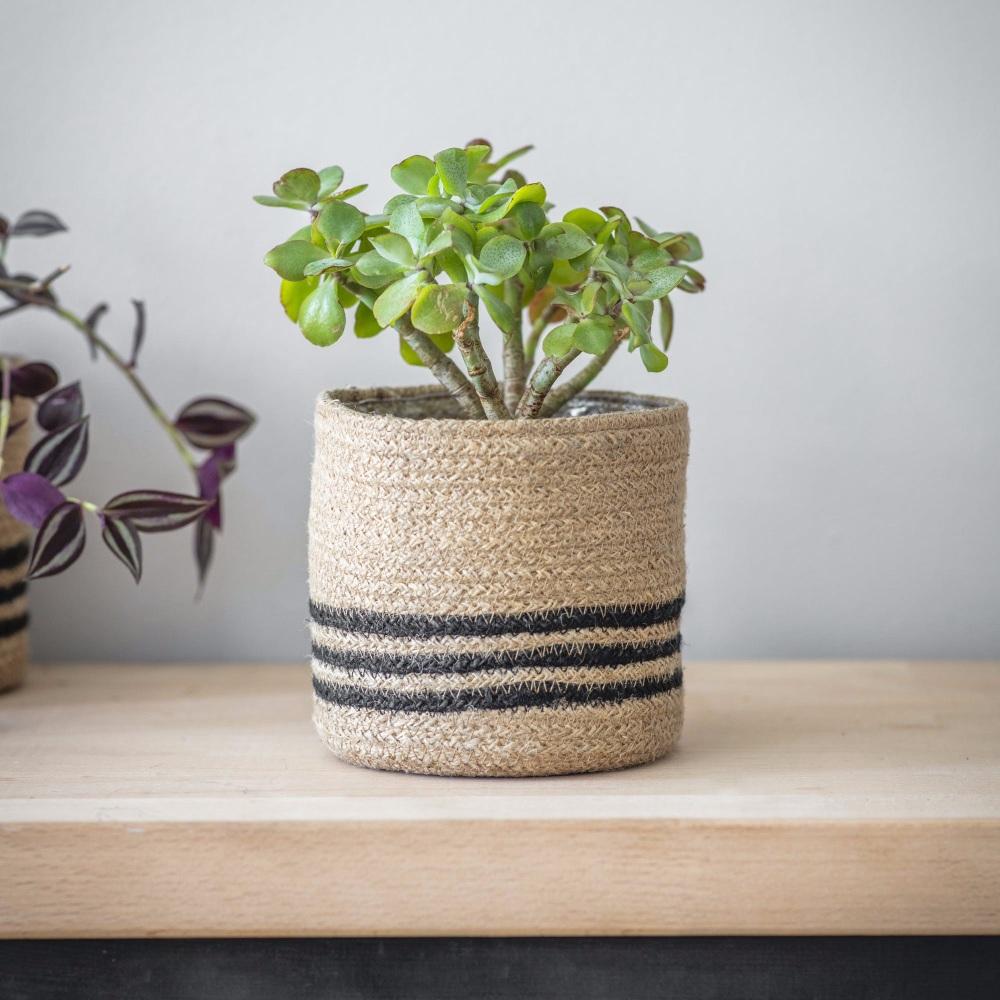 Striped Jute Plant Pot