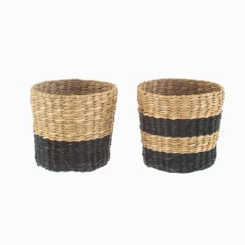 Mini Black Seagrass Planters